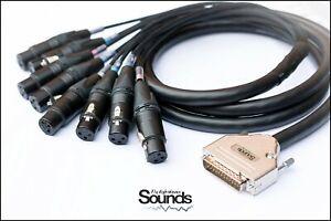 D-Sub DB25 Serial 8 Way Multicore Cable XLR Female Neutrik NC3FXX Mogami Premium