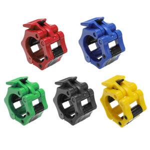 2/4PCS 25mm/50mm Barbell Locks Collars Olympic Barbells Muscle Clamp Bar Lockjaw