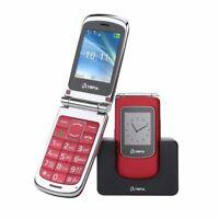 OLYMPIA Style View Senioren Mobiltelefon, große Tasten und Farbdisplay, Rot