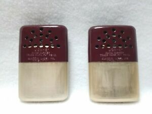 Lot of 2 Limited Edition Gold Toned with Burgundy Top  Jon-E Hand Warmers w/Bag