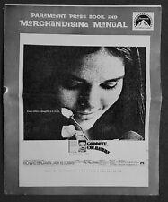 GOODBYE COLUMBUS ORIGINAL 1969 PRESSBOOK ALI MACGRAW RICHARD BENJAMIN