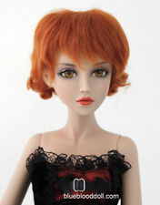 """1/3 bjd 8-9"""" doll real mohair wig carrot red short curly dollfie Luts iplehouse"""