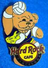 BARCELONA SPANISH SPORTS BEAR SERIES HRC VOLLEYBALL PLAYER Hard Rock Cafe PIN LE