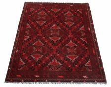 Afghan Khal Mohammadi 191 x 150 cm Handgeknüpfter Orientteppich dunkel rot