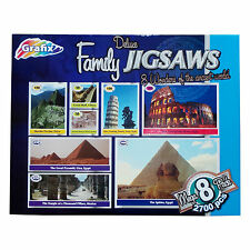 GRAFIX Deluxe Family Jigsaws Mega 8 Pack 2700 Pcs 8 Wonders Of The Ancient World