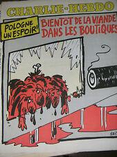 Charlie Hebdo N°510 20/8/1980 Caricature Cavanna Wolinski Cabu Charb Pologne