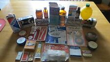Vintage Lot Advertising Grocery Store Soap, Poison, Needles, Salve, Tins