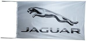 Jaguar white / silver landscape nylon flag  1500mm x 900mm      (of)