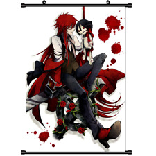 Anime Black Butler Kuroshitsuji Grell Sutcliff Wall Poster Scroll  s3147