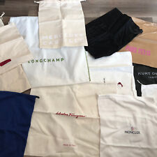 Large Lot Designer Shoe & Purse Dust Bags - Vince, Longchamp, Valentino...