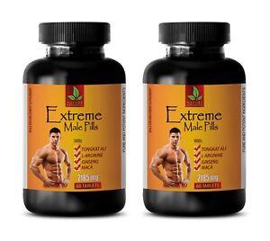 sport supplements - EXTREME MALE PILLS 2185mg - korean black ginseng - 2 Bottles