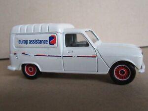 6R Solido No 1325 France Renault 4 Fourgonnette Publicité Europ Assistance 1:43