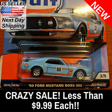 NEW HOT WHEELS 2019 CAR CULTURE GULF SERIES (2) '69 FORD MUSTANG BOSS 302 #2/5