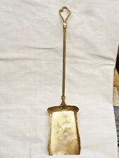 1900 solid brass fireside shovel art nouveau brass dustpan edwardian display