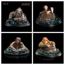 Weta The Hobbit Barrel Riders Set Of 4 Bilbo, Oin, Bombur, Bofur Statues