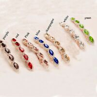 Women Rhinestone Metal Hairpin Crystal Hair Clip Barrettes Color Jewelry e