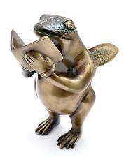 Nerdy Frog Brass Showpiece Home Décor Sculpture Statue