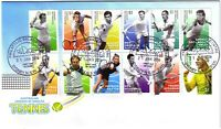 2016 FDC Australia. Singles Tennis Legends. Various FDI Postmarks