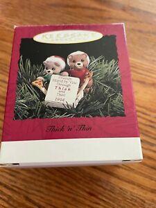 "Hallmark ""Thick 'n' Thin""  Mice Friendship  Ornament 1994"