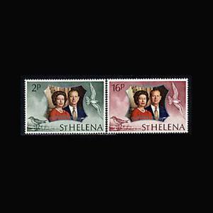 St Helena, Sc #271-72, MNH, 1972, Royalty, Silver Wedding,  HD-A