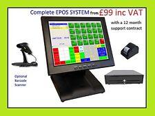 More details for starter pos 12 or 15 touch screen epos system cash till bar restaurant