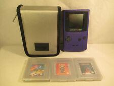 Nintendo Game Boy Color CGB - 001 mit Tasche und drei Spielen