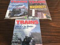 Lot of 3 VINTAGE NEW ORIGINAL SEALED Trains Magazines 1993 Oct, Nov, Dec