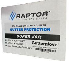 """Raptor Gutter Guard, Stainless Steel, Super Size  Fits a 6"""" & 7"""" Gutter"""