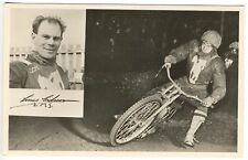 Linus Eriksson Motorcycle L. M. S. Racing RPPC Real Photo Postcard