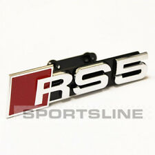 RS5 Grill Badge Emblem Logo Audi Front Grille New Mesh Honeycomb Red Chrome rs5g