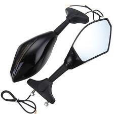 2X Moto Specchio Specchietto Retrovisore con Frecce LED Per Honda Yamaha Suzuki