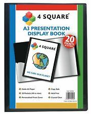 More details for a3 black presentation display book folder 20/40/60/80 pockets full range new