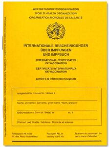 Internationaler Impfausweis STANDARD Impfpass Ausführung 2021, mit WHO-Zeichen