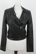 TOPSHOP Black Biker Jacket Size Uk 10