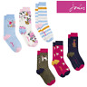 Joules Brilliant Bamboo Ladies 3 Pack Socks (Z)