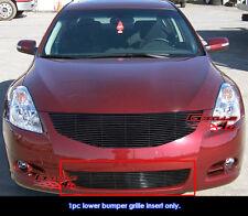 Fits 2010-2012 Nissan Altima Sedan Lower Bumper Black Billet Grille