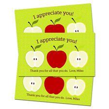 10 Teacher Appreciation Personalized Thank You Tags