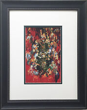 "LeRoy Neiman ""Double Roulette"" CUSTOM FRAMED Art Print LAS VEGAS Atlantic City"