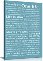 Life Manifesto Quote Canvas Wall Art Picture Print Home  Decor