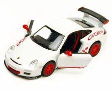 New Kinsmart 2010 Porsche 911 GT3 RS Diecast Toy Model 1:36 Pull Action White