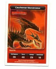 Carte Carrefour Dreamworks n° 125/216 - CAUCHEMAR MONSTRUEUX - Dragons