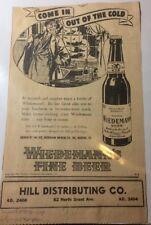 Wiedemanns Beer Ad Bohemian Brewing Newport Kentucky 1941 Newspaper Ad