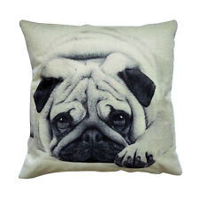Cute Dog Throw Cushion Vintage Cotton Linen Pillow with eco friendly insert