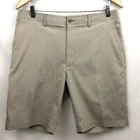 Jack Nicklaus Golf Shorts Mens Beige Flat Front Stretch Athletic New