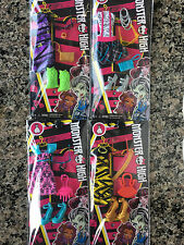 4 Monster High Fashion Packs Brilliant Value Incl dresses shoes handbags & more