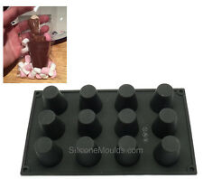 12 cell Dariole Hot Chocolate Block Drink Stirrers Spoons Cake Silicone Mould