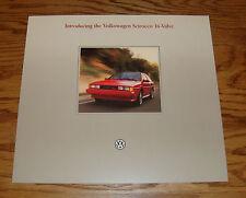 Original 1986 Volkswagen VW Scirocco 16-Valve Sales Brochure 86
