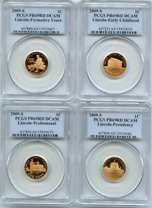 2009 S Lincoln 4 Coin Cent Set PCGS PR69DCAM