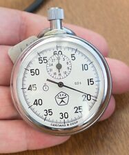 """Shockproof Soviet USSR Russian Stopwatch """"Agat"""" mechanical One-Button NEW CASE"""