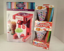 Nostalgia Coca Cola Ice Snow Cone Maker w/ 40 Cups & Straws